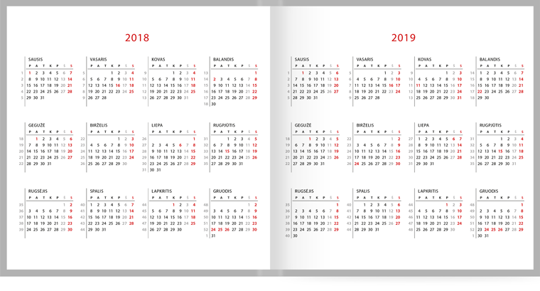 2020 Kalendorius Su Savaitemis.Darbo Kalendorius 2020 Puiki Verslo Dovana Zoombook Lt