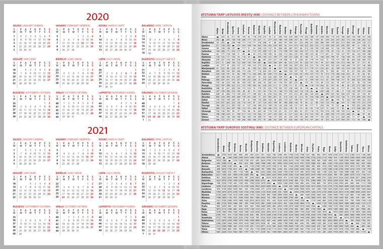 2020 Kalendorius.Darbo Kalendorius 2020 Puiki Verslo Dovana Zoombook Lt