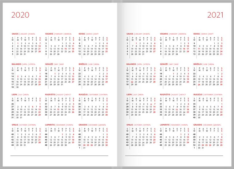 2020 Darbo Kalendorius.Darbo Kalendorius 2020 Puiki Verslo Dovana Zoombook Lt